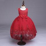Детское платье со шлейфом 5 расцветок