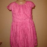 Нарядное гипюровое платье на 6 лет от Pumkin Patch