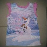 фирменная George футболка.майка Фрозен.ледяное сердце.снеговик Олаф 3-4г 98-104см