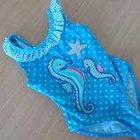 купальник голубой 2-3 г голубой синий горох коник F&F фирменный
