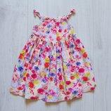 Яркое платье для девочки. F&F. Размер 12-18 месяцев. Состояние новой вещи