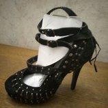 Модные женские замшевые туфли, новые, р.39
