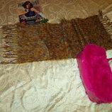 шарф длинны и широкий. травка