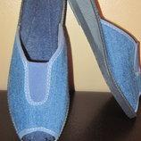 Тапочки джинсовые Франция женские 36 размер сток