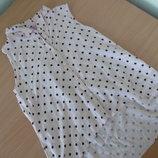 Блузка девочке 8-9 лет F&F без рукава оригинал бренд горох