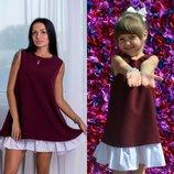 Family look летние платья двойное мама дочка цвета