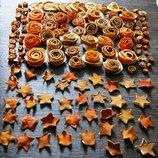 Сушенные розочки с апельсинов для декора