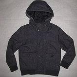 7-8 лет, тёплая зимняя куртка F&F, мальчику, под джинс