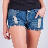 Шорты женские короткие, джинсовые