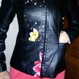 куртка цветочным принтом