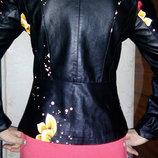 куртка пиджак с цветочным принтом. продажа или обмен