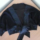 Болеро 38 р черное прозрачное атлас