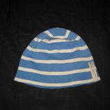 8-12 лет, трикотажная шапка в полоску