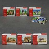 Деревянная игра пазлы картинка животные 24 дет. 6 вид