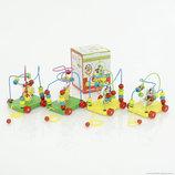 Деревянная игрушка каталка развивающая лабиринт 4 вида