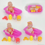 Пупс в ванночке кукла с аксессуарами игрушка для девочек 2 вида в сетке