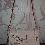 Стильная розовая сумка