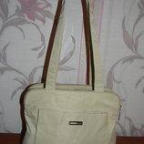 Бежевая тканевая сумка Esprit