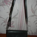 Темно-Серая кожаная сумка. Made in Italy