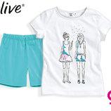 Комплект для девочки р.116 128 футболка шорты Германия
