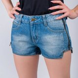 Шорты женские потертые, джинс