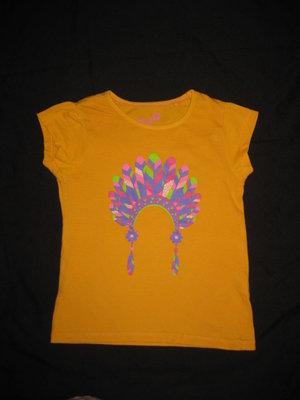 3-4 года, яркая футболка для девочки