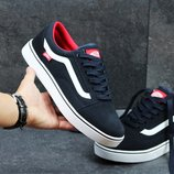 Мужские кеды Vans Old Skool Dark blue red