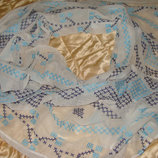 новая шаль платок M&Co вышивка хлопок 74Х174 см