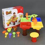 Столик игровой для песка и воды стульчик 9828