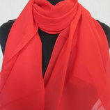 шарф шифоновый легкий однотонный размер 160х50см