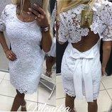 Женское стильное платья кружево
