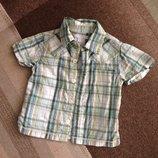 12-18 мес стильная рубашка сорочка для маленького джентльмена