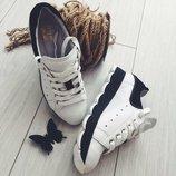 Натуральные кожаные женские кроссовки / кеды 35,36,37,38,39,40 Высокое качество