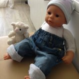 одежда джинсы для куклы Анабель, Шу-Шу, беби борна 42-55 см