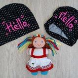 Трикотажная шапочка Hello