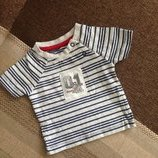 50-56 см, до 4,1 кг, мягенькая стильная футболочка футболка
