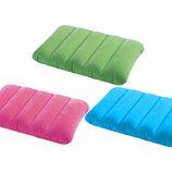 Intex Подушка надувная, 3 цвета голубой, зеленый, оранжевый , в кор-ке