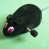 Мышь заводная механическая -игрушка для котов