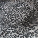 Коттон с флоком Серый леопард , ткань, ткани
