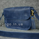 Кожа. Ручная работа. Кожаная женская наплечная сумка, сумочка. Кожаный женский клатч