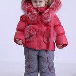 зимний костюм для девочки KIKO кико комбинезон и куртка,86,92,98,104