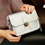 Женская сумка почтальон-сундучок на защелке В Наличии