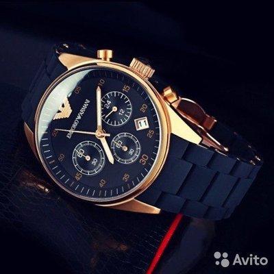 Элитные наручные часы Armani Emporio темно синие