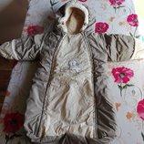 Детский зимний комбинезон-мешок.