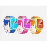 Q80 Умные детские часы Smart Часы с GPS трекером и цветным экраном Розовые