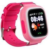 Детские смарт часы с трекером Smart Q100 Розовый красный