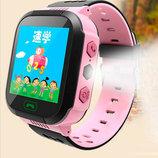 Детские смарт часы с трекером Smart Y21 Розовые фонарик
