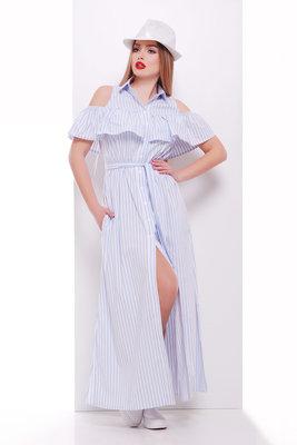 платье Лаванья б/р. Цвет голубая полоска скл2