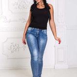 Женские стильные джинсы в больших размерах