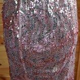 Брендовая дизайнерская юбка в паутине и паетках. Zniva - оригинал.46